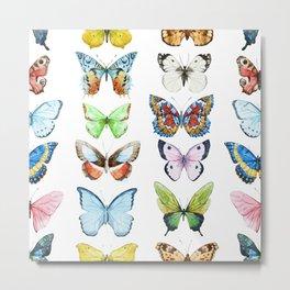 Butterfly Pattern 05 Metal Print