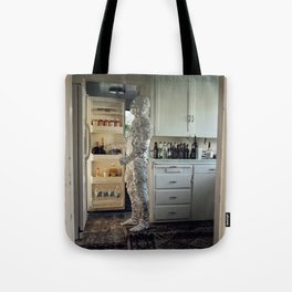 In The Cold I'm Standing Tote Bag