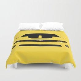 yellow car Duvet Cover
