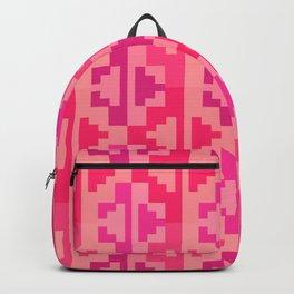 Geometric Aztec Zig-Zag Pattern - Pink Backpack