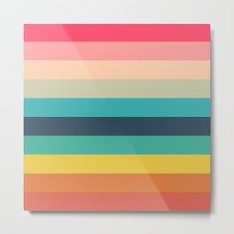 Colorful Timeless Stripes Totetsu Metal Print