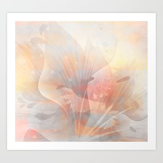 Floral Astract Art Print