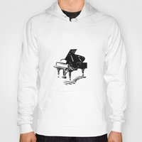 piano Hoodies featuring Piano by Azure Cricket