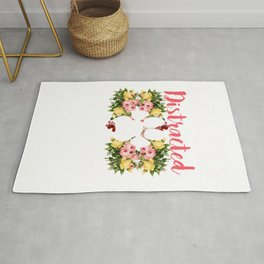 Funny Easily Distracted by Dogs Puppy graphic Rug
