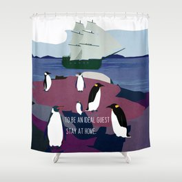 Guests arrive 7 Shower Curtain