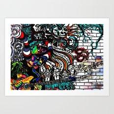 Santana rock out  Art Print