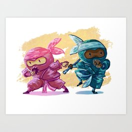 Two Lil Ninja Art Print