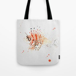 Lionfish in Ink Tote Bag
