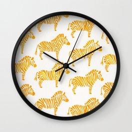 Zebras – Yellow Palette Wall Clock