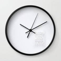 Design Advice (Utilize white space.) Wall Clock