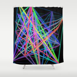 Colorful Rainbow Prism Shower Curtain