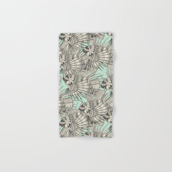 fish mirage mint Hand & Bath Towel