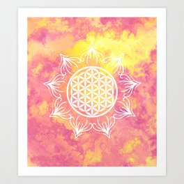 Flower Of Life (Batik 6) Art Print