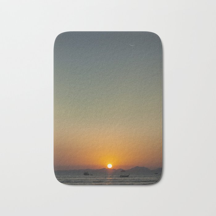 Sunset over the Andaman Sea Bath Mat