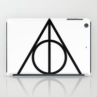 deathly hallows iPad Cases featuring Deathly Hallows symbol by Vera