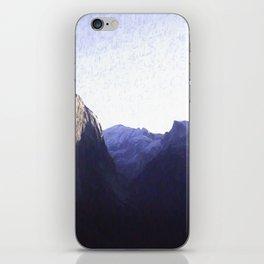 Yosemite Valley in Blue iPhone Skin