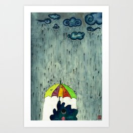 Oh! Raining Night Art Print