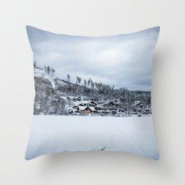 Smal village Throw Pillow