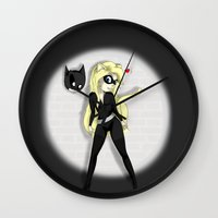 catwoman Wall Clocks featuring Catwoman by oONekoGirloO
