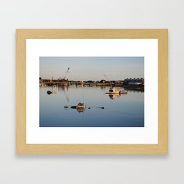 Boats in the river Framed Art Print