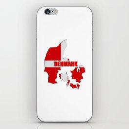 Denmark map iPhone Skin