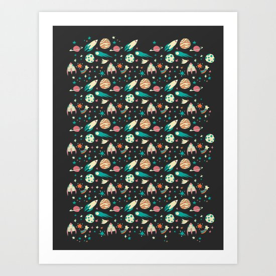 Science Fiction Wrapping Paper No. 1 Art Print