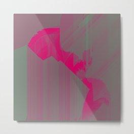 Swamp Pink American Glitch Metal Print
