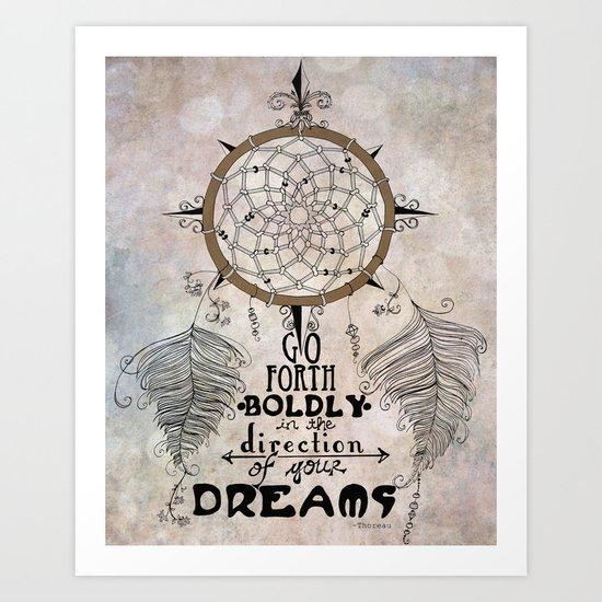 Go Forth Boldly II Art Print