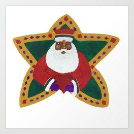 African American Santa Claus Art Print