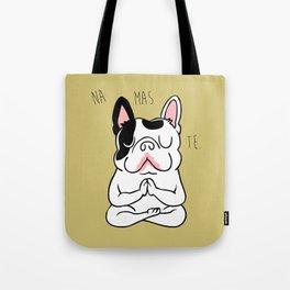 Namaste French Bulldog Tote Bag