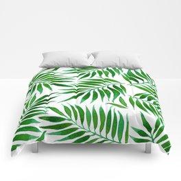 FOLIAGE WATERCOLOR Comforters