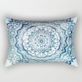 BLUE JEWEL MANDALA Rectangular Pillow