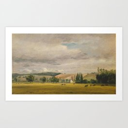 John Constable 1776–1837 Title Dedham Vale with the House Called 'Dedham Valley' Art Print