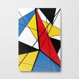 Mondrian Art Metal Print