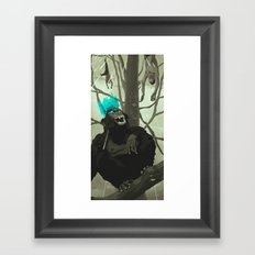 Uneasy Lies the Head That Wears the Holographic Crown Framed Art Print