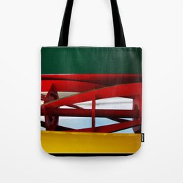 """tricolor lawnmower """"flag"""" abstract Tote Bag"""