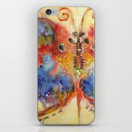 Astrazioni su ali di farfalla iPhone Skin