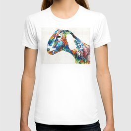 Colorful Goat Art By Sharon Cummings T-shirt