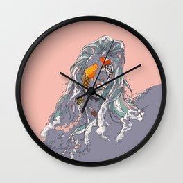 Koi and Raised Wall Clock