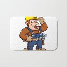 Cartoon of a Gorilla Handyman Bath Mat
