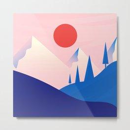 Flat Landscape Metal Print