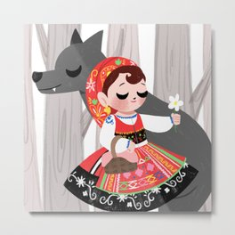 Portuguese Red Riding Hood Metal Print