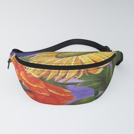 Warm Flowers, Sunflower & Poppy Fanny Pack