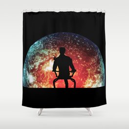 Illusive man ( Mass Effect ) Shower Curtain