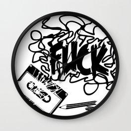 F* Tape Jam Wall Clock