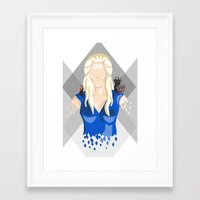 targaryen Framed Art Prints featuring Daenerys Targaryen by itsamoose