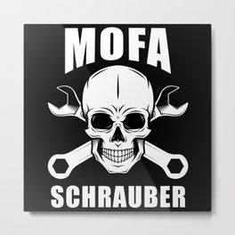 Moped Screwdriver Metal Print