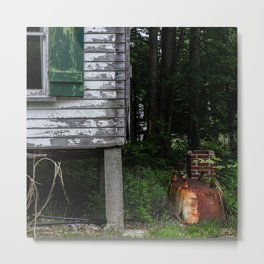 Rusted Tub Metal Print