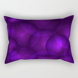 Glowing purple soap circles and gentle volume bubbles of air and water. Rectangular Pillow