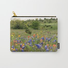 Bluebonnets, Indian Paintbrushes & Wildflowers Carry-All Pouch